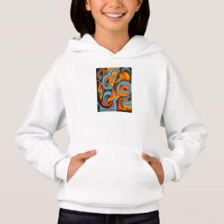 Warrior One Yogi-Abstract Art Hand Painted Hoodie