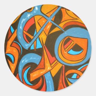 Warrior One Yogi - Abstract Art Stickers