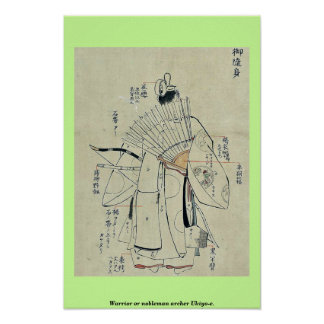 Warrior or nobleman archer Ukiyo-e. Posters