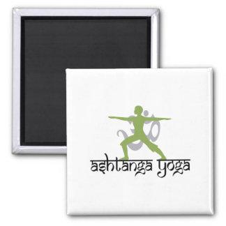 Warrior Pose Ashtanga Yoga 2 Inch Square Magnet