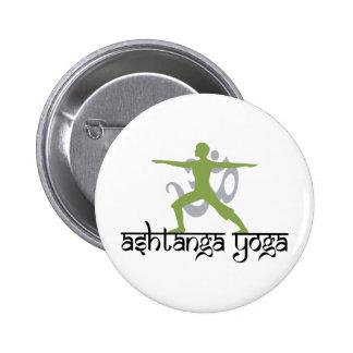 Warrior Pose Ashtanga Yoga Pinback Button