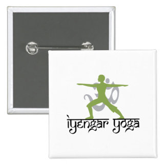 Warrior Pose Iyengar Yoga Pinback Button