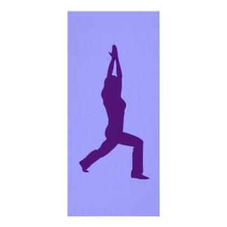 Warrior Pose Yoga Bookmark Rack Card