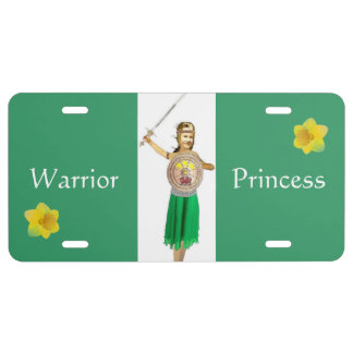 Warrior Princess License Plate