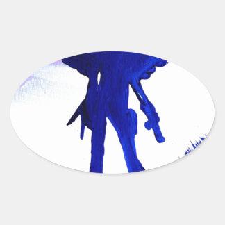 Warrior Queen Oval Sticker