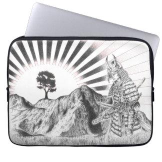 Warrior Samurai and raising sun - M1 Computer Sleeves