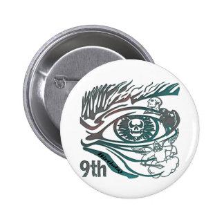 Warrior Skul 9th Birthday Gifts Pinback Button