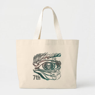 Warrior Skull 7th Birthday Gifts Canvas Bags