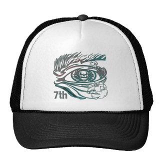 Warrior Skull 7th Birthday Gifts Trucker Hat