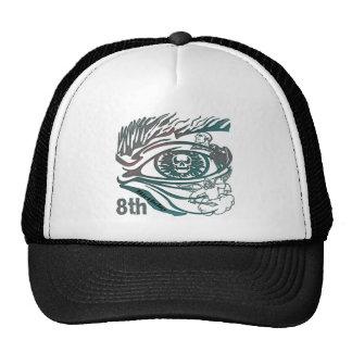 Warrior Skull 8th Birthday Gifts Trucker Hat