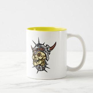 Warrior Skull Two-Tone Coffee Mug