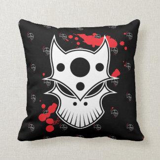 Warrior Skull Throw Pillows