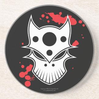 Warrior Skull with Blood Splatters Coaster