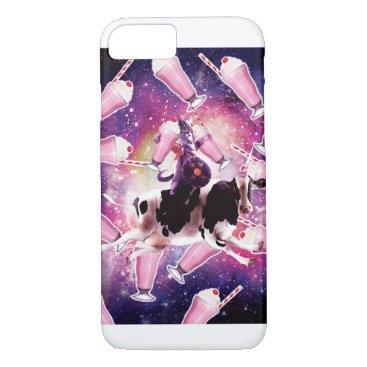 Warrior Space Cat On Cow Unicorn - Milkshake iPhone 8/7 Case