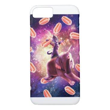 Warrior Space Cat On Elephant Unicorn - Hot Dog iPhone 8/7 Case