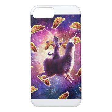 Warrior Space Cat On Llama Unicorn - Taco iPhone 8/7 Case