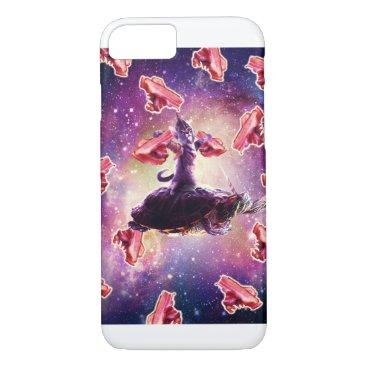 Warrior Space Cat On Turtle Unicorn - Bacon iPhone 8/7 Case