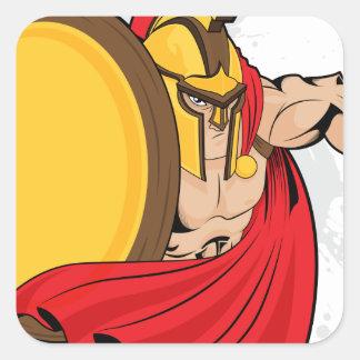 Warrior Square Sticker