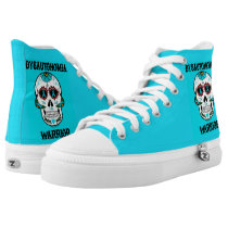 Warrior/Sugar skull...Dysautonomia High-Top Sneakers