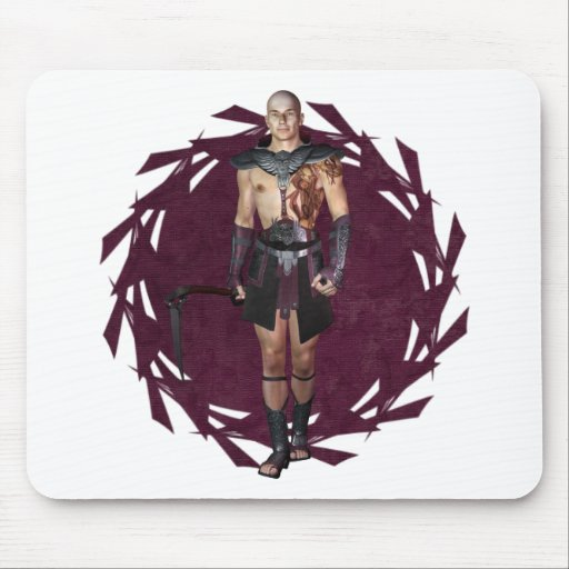 Warrior Tattooed Mouse Pad