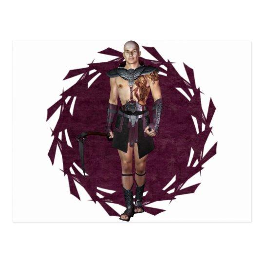 Warrior Tattooed Postcard