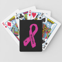 Warrior/ torn ribbon...Breast Cancer Bicycle Playing Cards