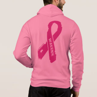 Warrior/ torn ribbon...Breast Cancer Hoodie