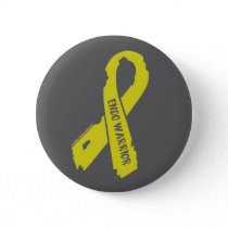 Warrior/ torn ribbon...Endometriosis Button