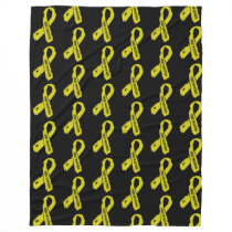 Warrior/ torn ribbon...Endometriosis Fleece Blanket