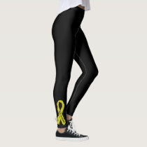 Warrior/ torn ribbon...Endometriosis Leggings