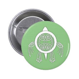 Warrior Turtle Pinback Button