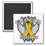 Warrior Vintage Wings - Appendix Cancer Fridge Magnets