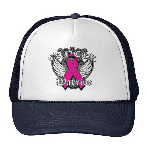 Warrior Vintage Wings - Breast Cancer v2 Mesh Hats