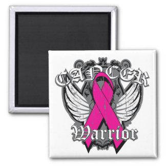 Warrior Vintage Wings - Breast Cancer v2 Fridge Magnets