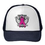 Warrior Vintage Wings - Breast Cancer v2 Trucker Hat