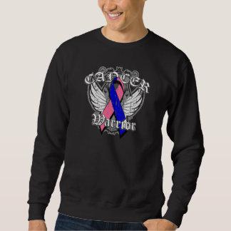Warrior Vintage Wings - Male Breast Cancer Sweatshirt