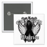 Warrior Vintage Wings - Melanoma 2 Inch Square Button