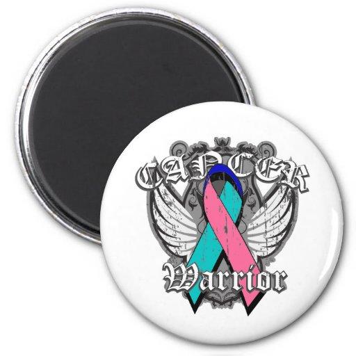 Warrior Vintage Wings - Thyroid Cancer Fridge Magnets