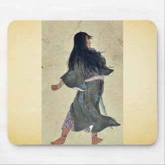 Warrior with bracelets around wrist and ankles mousepad