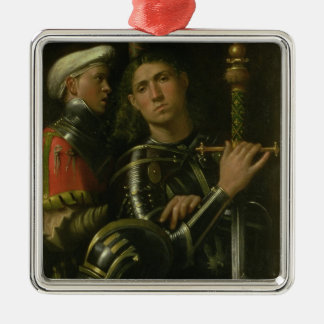 Warrior with Groom (oil) Metal Ornament