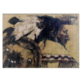 Warrior with Headdress and Shield Cutting Board
