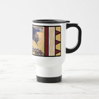 Warrior with Headdress and Shield travel mug