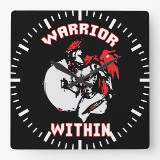 Warrior Within Square Wall Clock