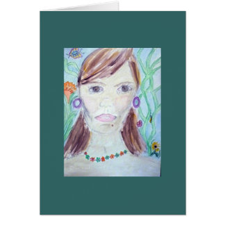 warrior woman card