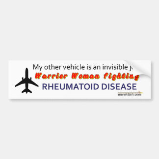 Warrior Woman fighting RA / RD Bumper Sticker