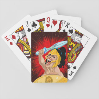 Warrior Woman Playing Cards