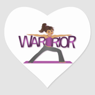 Warrior Yoga Girl Sticker