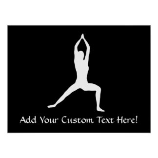 Warrior Yoga Pose Silhouette Posters