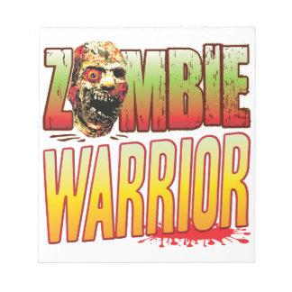 Warrior Zombie Head Scratch Pads