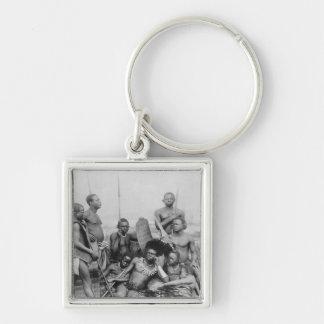 Warriors, Belgian Congo, 1894 Keychain
